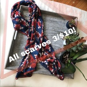 All scarves 3/$12 5 for $16